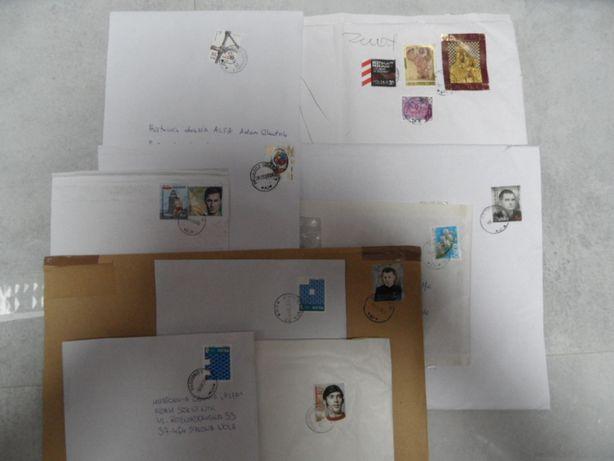 zestaw 10 kopert ze znaczkami i stemplami znaczki pocztowe