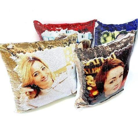 Подушки с фото на паетке