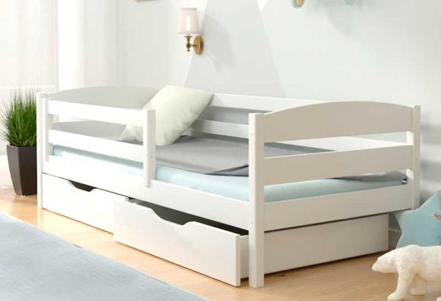 Детская деревянная кровать (натуральный бук) Хьюго / ТОП КАЧЕСТВО