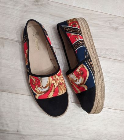 Крутые эспадрильи слипоны туфли