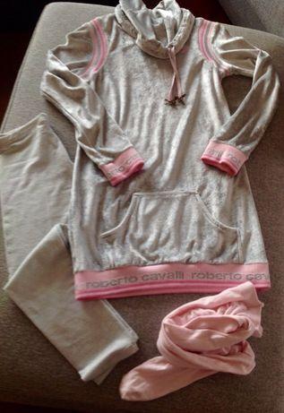 Жемчужно-серое платье туника из бархата roberto cavalli angels оригина