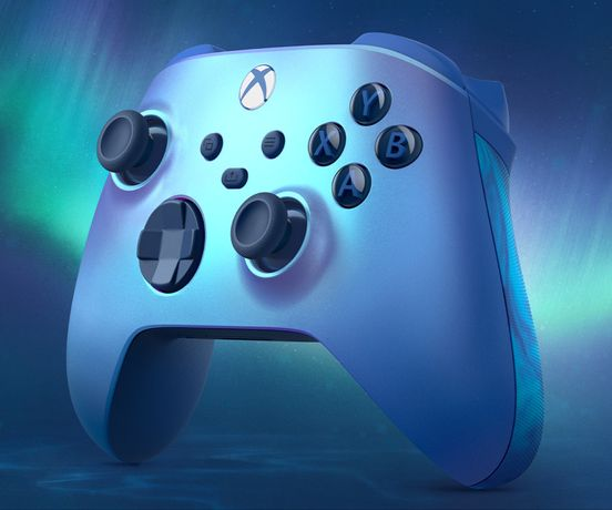 Comando xbox series x Acqua shift azul