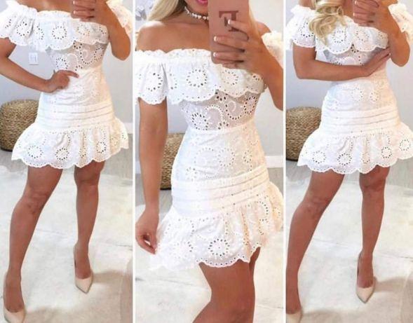 Sukienka biała, boho