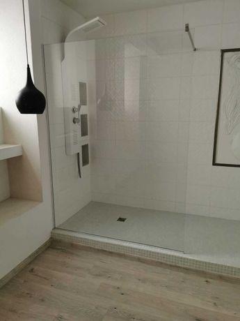 Szyba prysznic kabina prysznicowa walk in szyba hartowana 190x140