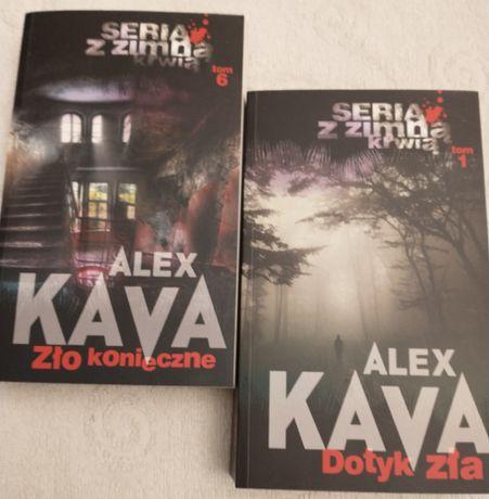 Książki 2 sztuki Alex Kava Zło konieczne i Dotyk zła