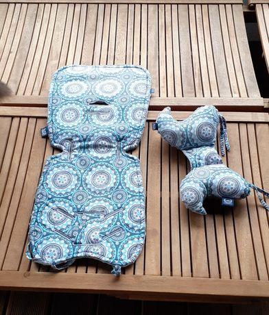 La Millou wkład do wózka + poduszka antywstrząsowa materac zagłówek