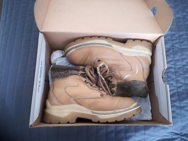 -60% ATP buty zimowe chłopięce r 32 skóra kozuszek ciepłe rebel hm