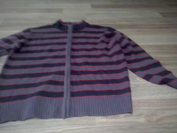 sweter męski rozpinany na zamek