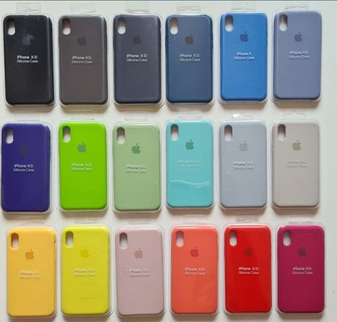 Etui Apple IPhone Silicone case 6 7 8 plus X Xs Max XR S R 5 5s SE