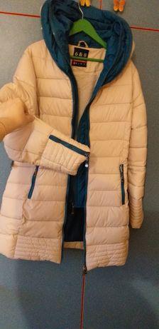 Куртка полу пальто зимнее зима размер S