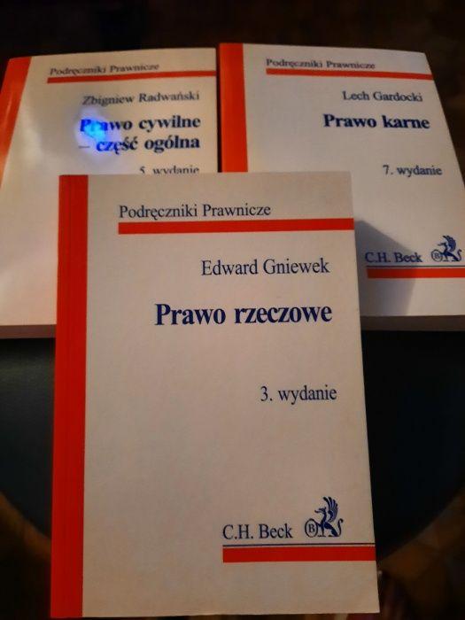 C.H. Beck Prawo karne, Prawo rzeczowe, Prawo cywilne część ogólna Warszawa - image 1