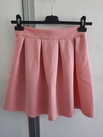 Spodniczka mini różowa na lato z zamkiem
