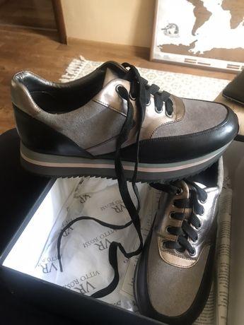 Кроссовки туфли кожа