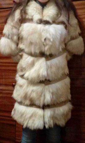 Продам натуральную меховую жилетка гусеничка, натуральный мех шуба