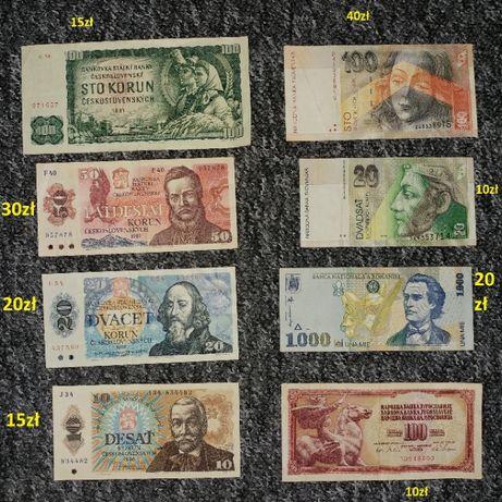 Banknoty monety kolekcja