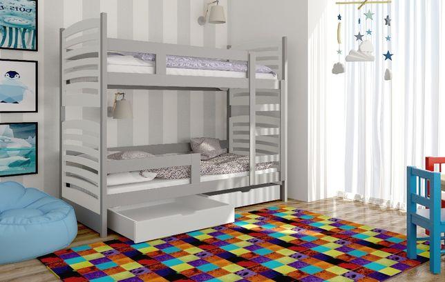 Drewniane łóżko Janek dziecięce dla dwóch osób, dostawa gratis