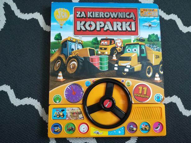 JCB Za kierownicą koparki książka z kierownicą i dźwiękami