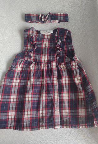 Sukieneczka w kratkę + opaska H&M