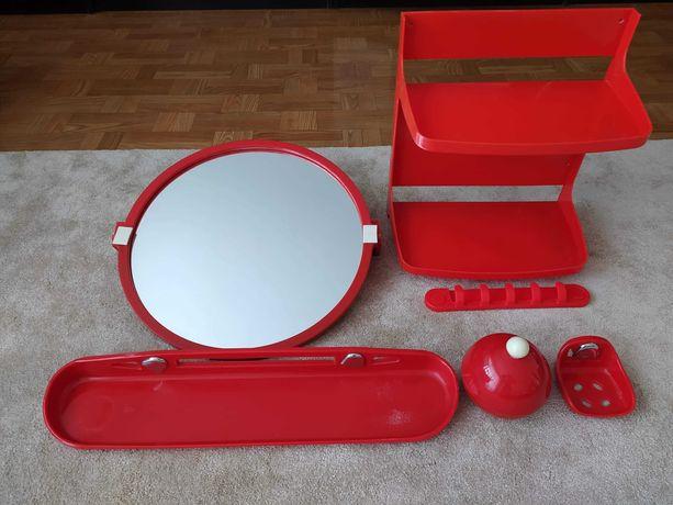 Zestaw łazienkowy z lustrem 6 elementów