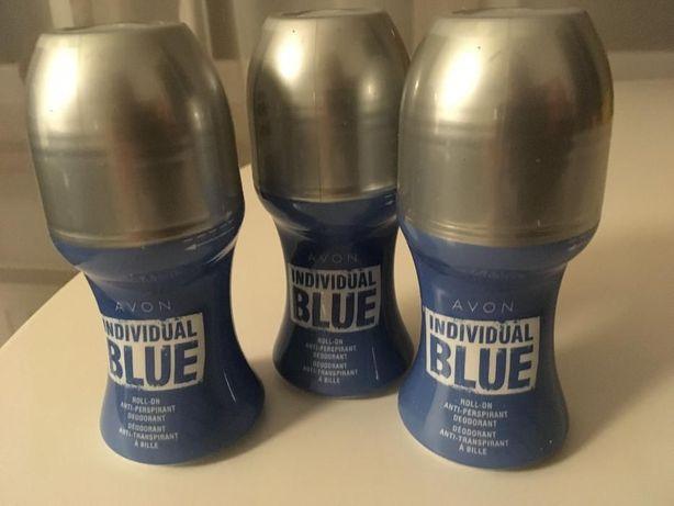 Zestaw 3 kulek antyperspiracyjnych Individual Blue (Avon)