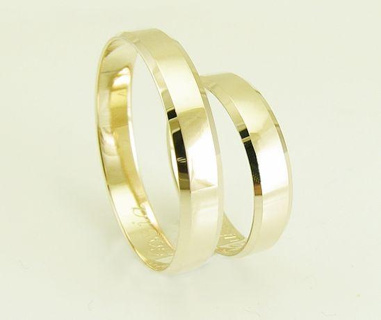 Złote obrączki fazowane 4 mm producent