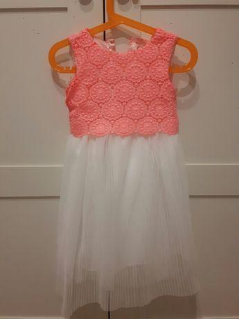 Hot sukienka piękna haft plisowanie idealna r. 92 polecam dziewc
