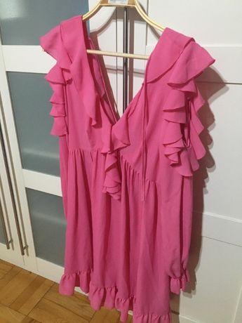 sukienka różowa, letnia