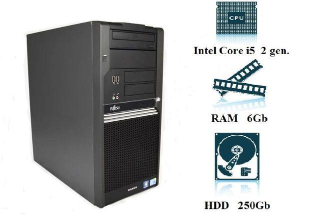 Компьютер, системный блок, ПК, Core I5, 2400, 6 Гб ОЗУ, HDD 250 Гб