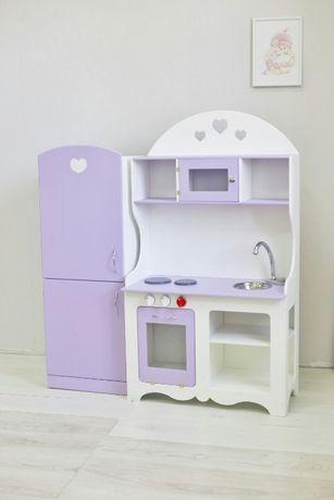 Детская кухня и холодильник ,Эко, для девочки