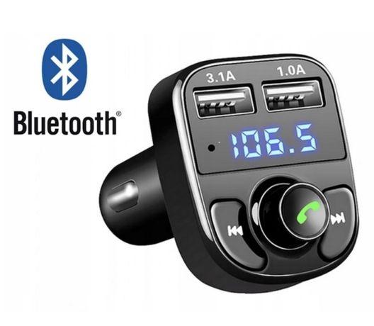 Transmiter FM MP3 Bluetooth X8 Zestaw Głośnomówiący