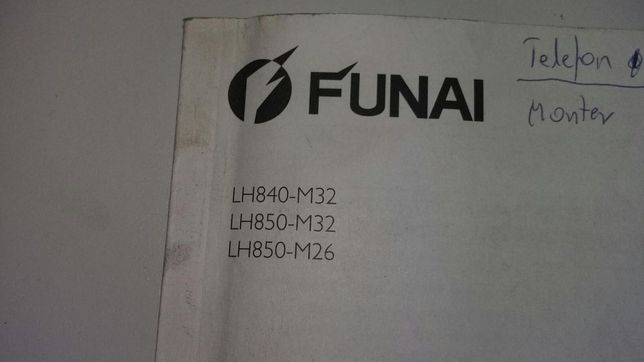 Instrukcja obsługi telewizora Funaj