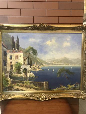 Картина Старинная Холст Масло»Солнечная Италия»