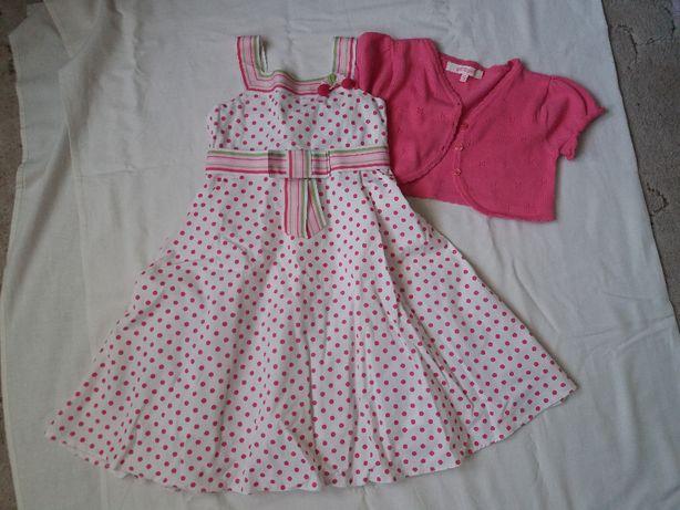 Sukienka wizytowa girl2girl 110 4-6 lat + bolerko