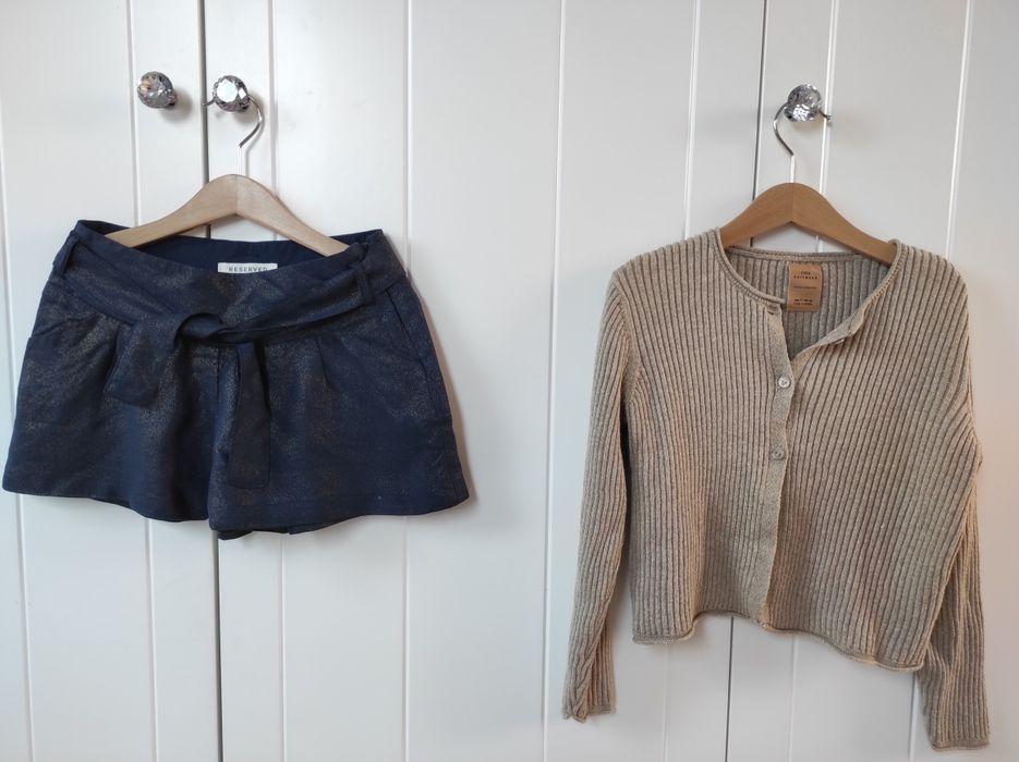 Spodenki sweterek Zara Reserved r.122 Warszawa - image 1