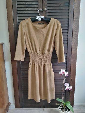 Brązowa karmelowa sukienka rozmiar S/M