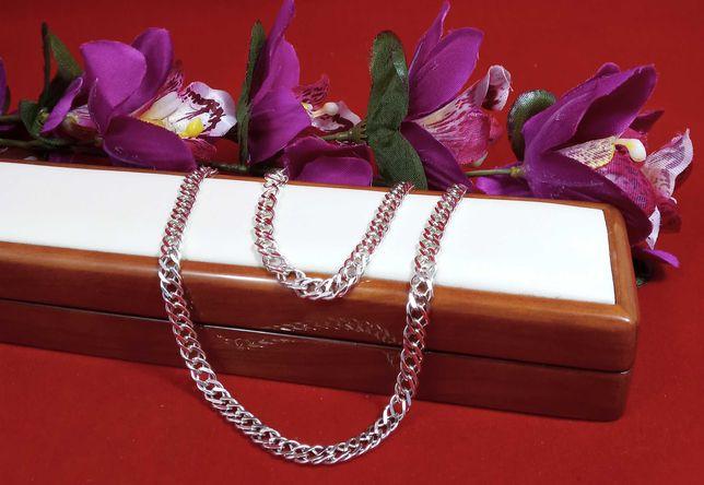 Śliczny srebrny łańcuszek 21,43G