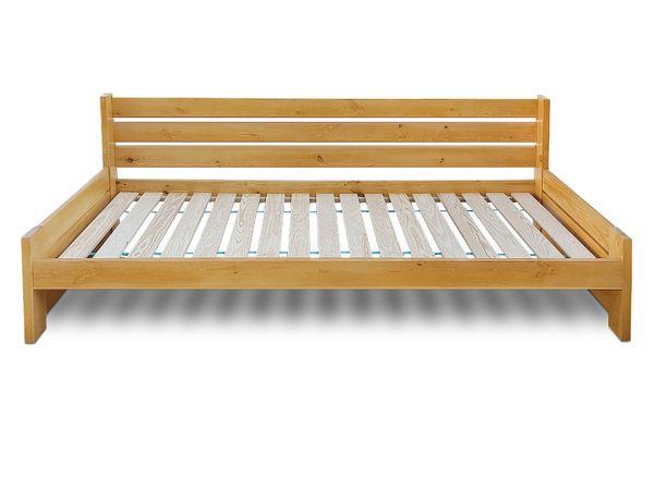 łóżko sosnowe z wysokim oparciem VASTO 120x200 BARDZO MOCNE
