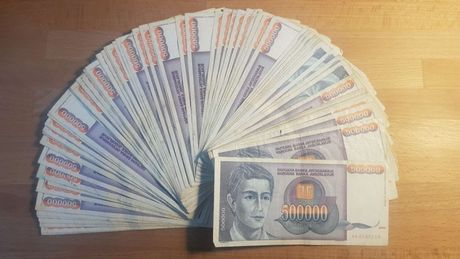 80 banknotów JUGOSŁAWIA