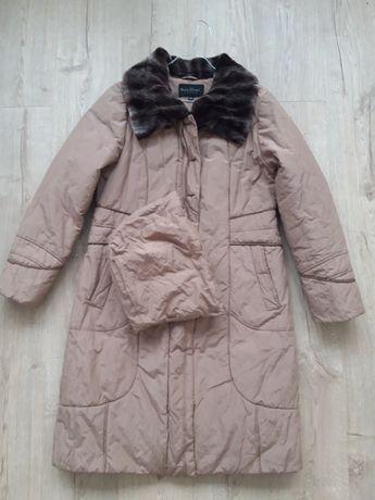 Płaszcz ocieplany zimowy L