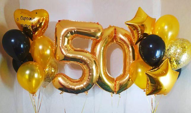 Воздушные шары, гелиевые шары, метровые цифры, Баблс, на день рождения