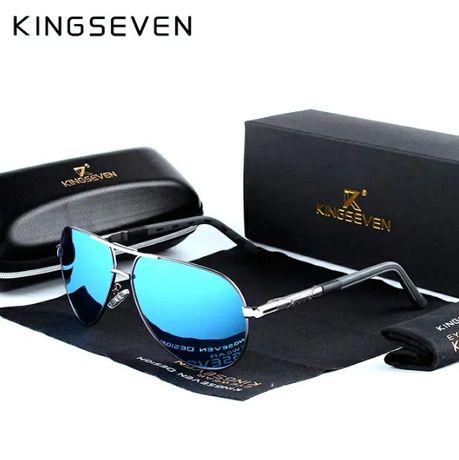 Prezent pod choinkę * Okulary przeciwsłoneczne pilotki KINGSEVEN UV400