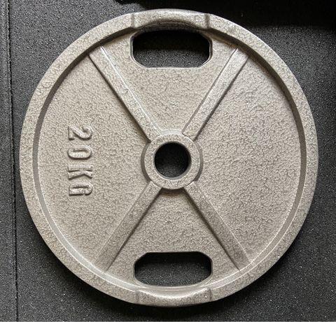 Conjunto 2 Discos musculação 20kg - 50mm - Novos