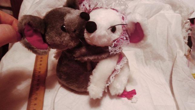 мягкая игрушка мышь мышка серая белая германия влюбленные семья крыса