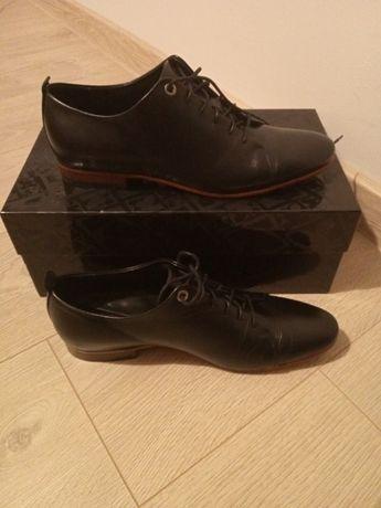 Skórzane czarne buty KAZAR Maximino r.39 (stopa 40-41)