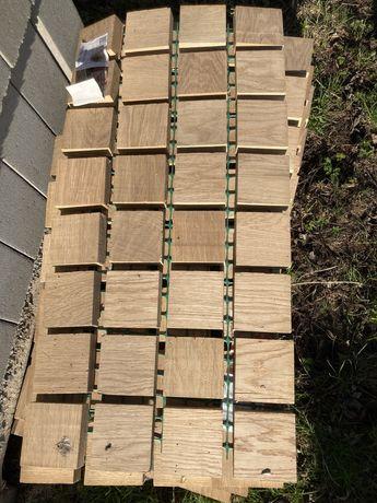 Impregnowana Ścieżka dębowa, panel ogrodowy na chodnik, trawnik lub ta