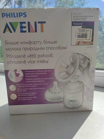 Ручной молокоотсос Philips AVENT SCF330/20 + пакеты для молока в подар