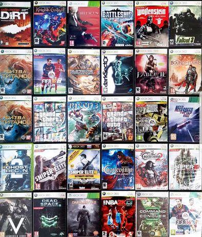 Ігрові/Игровые диски для Xbox 360/LT3.0/LT2.0/LT1.9/Kinect/Опт/Розница