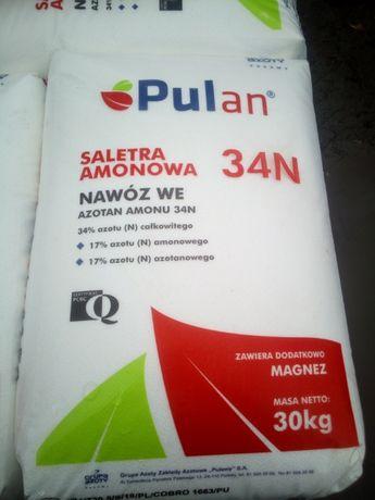 Saletra Amonowa 34% Anwil Włocławek, Saletra w workach na Palecie