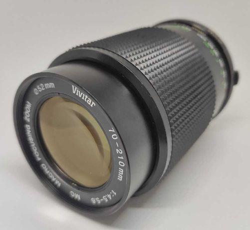 Objectiva Vivitar 70-210mm f/4.5-5.6 MC Macro Focusing OM