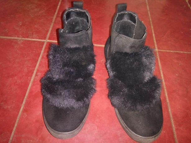 Ботинки замшевые. Зимние